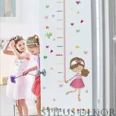 Cuki kislány magasságmérő 145x75