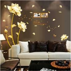 Aranyló virágok 130x100